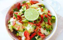 Asitte Pişmiş Kabak Salatası Tarifi